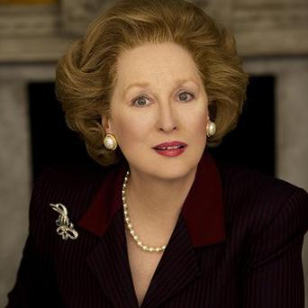 Meryl Streep plays Margaret Thatcher in The Iron Lady