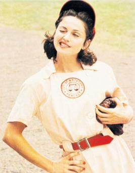 WHALE OF A TIME: Baseball is the thread running through 'A League of Their Own', which stars Madonna, as it is in Chad Harbach's 'The Art of Fielding', which is littered with references to Herman Melville's epic novel 'Moby Dick'