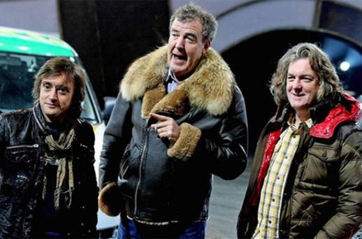 Top Gear: presenters Richard Hammond, Jeremy Clarkson and James May. Photo: PA
