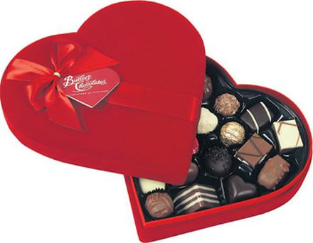 Heart-shaped boxes of chocolates for €8 and €16, Butlers Chocolates