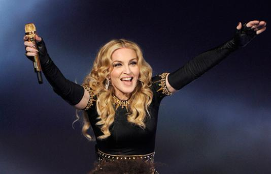 Madonna performs during the Super Bowl. Photo: Getty Images