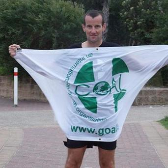 Richard Donovan in Sydney, Australia after he became the only man to run seven marathons on seven continents in less than five days