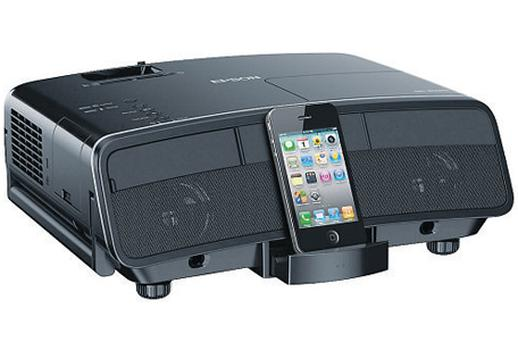 The MG-850HD has a built-in dock for your iPhone or iPod