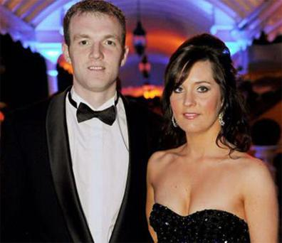 Lar Corbett and girlfriend Elaine Gleeson at the 2010 Gaelic Players' Association Awards