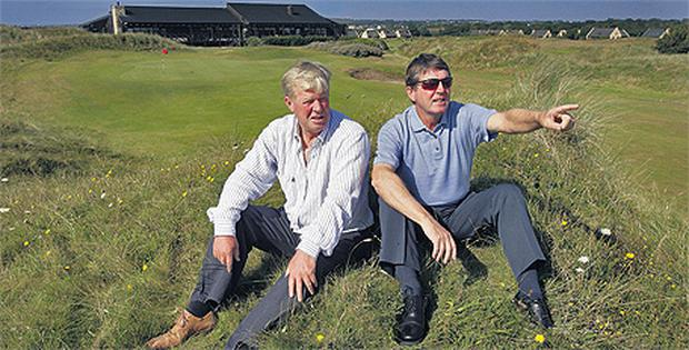 Declan Branigan, seen here with fellow Seapoint golf course designer Des Smyth, is not a fan of courses being rated in numerical order