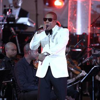 Jay-Z performs on stage at Carnegie Hall in New York