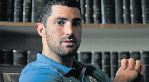 Ireland's Rob Kearney relaxes at Carton House after yesterday's press conference ahead of the Six Nations game against France on Saturday