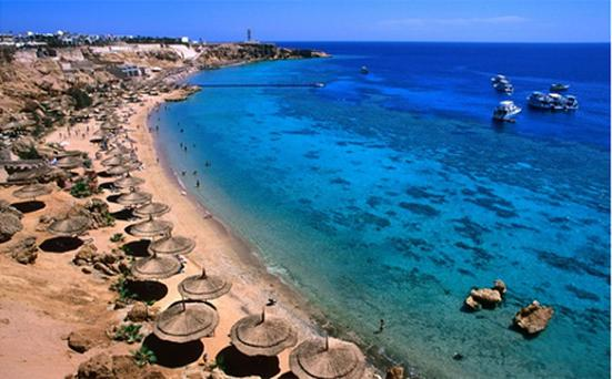 Egypt's Red Sea resorts, especially Sharm el-Sheikh, are well known for their white sand beaches and rich underwater life.