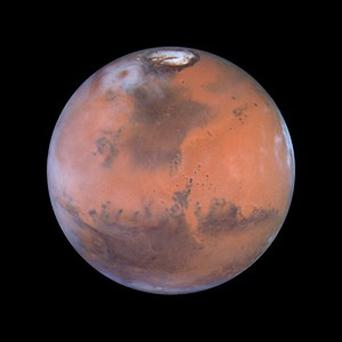 Mars, as seen by the Hubble Space Telescope (Nasa)