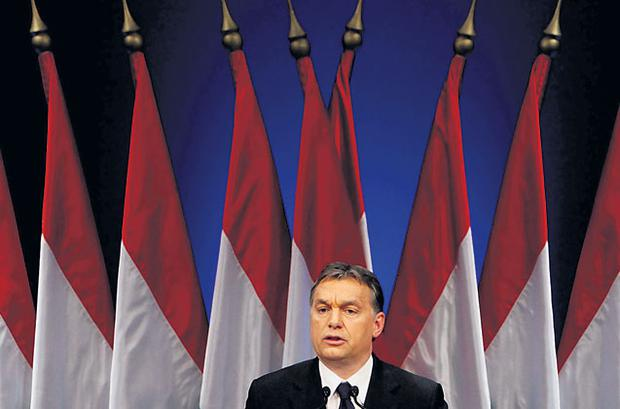 Hungarian Prime Minister Viktor Orban, who has been criticised by the international community over measures that are seen as eroding civil liberties.