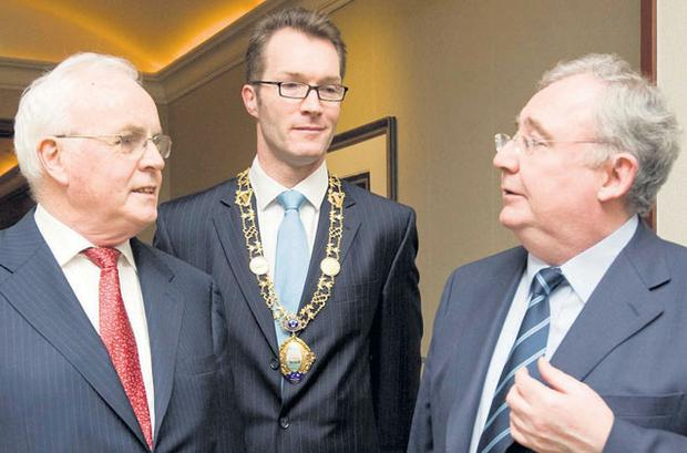 CIRCLE: Right, Frank Daly, Patrick Coveney and Pat Rabbitte at Thursday's event