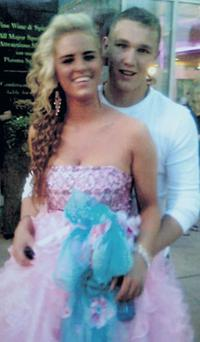 CALCULATED EXECUTION GONE WRONG: Melanie, pictured with her fiance, Christopher Moran, was the innocent teenage victim in a feud between warring gangs