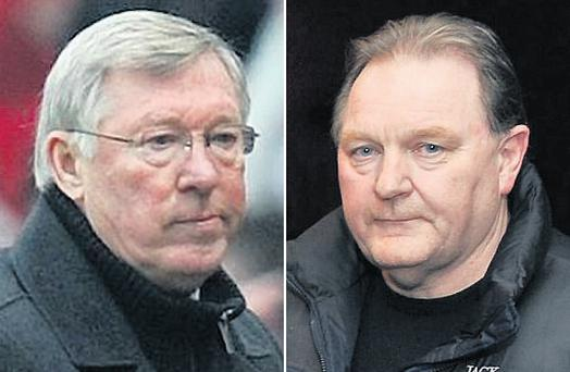 Manchester United manager Alex Ferguson spoke to former Vita Cortex lorry driver Jim Power