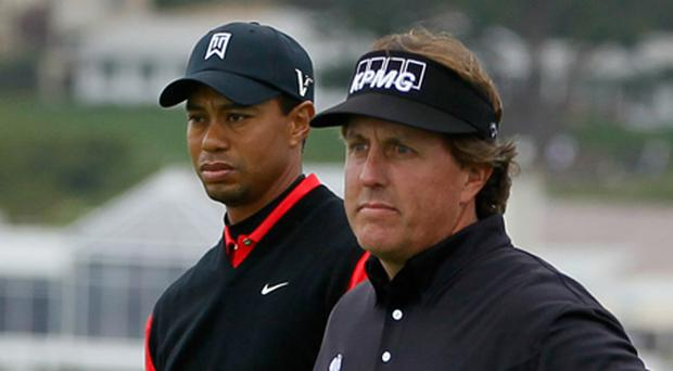 Tiger Woods and Phil Mickelson. Photo: Getty Images