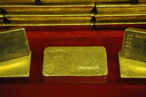 Gold prices edged up yesterday. Photo: Getty Images