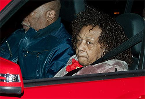 Whitney Houston's mother Cissy arrives in New Jersey ahead of the star's funeral