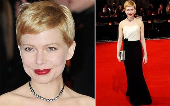 Michelle Williams looked ravishing in her H&M bespoke dress at the Baftas on Sunday. But what was her point?