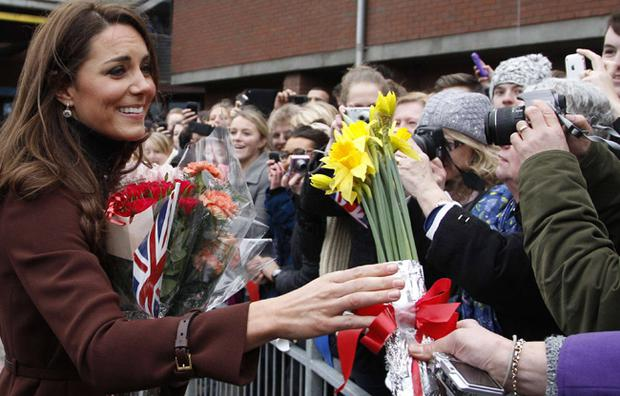Duchess of Cambridge visits Alder Hey Children's Hospital on February 14, 2012 in Liverpool, England.