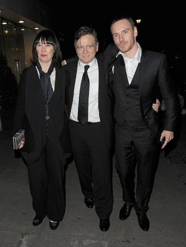 Michael Fassbender and his parents Adele Fassbender and Josef Fassbender