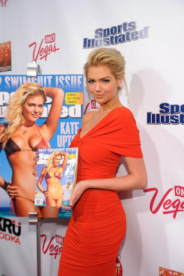 NEW YORK, NY - FEBRUARY 14: 2012 Sports Illustrated Swimsuit Issue cover model Kate Upton attends SI Swimsuit Launch Party Hosted by Crimson at Crimson on February 14, 2012 in New York City. (Photo by Michael Loccisano/Getty Images for Sports Illustrated)