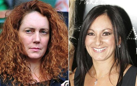 Rebekah Brooks (left) and her former PA Cheryl Carter. Photo: PA