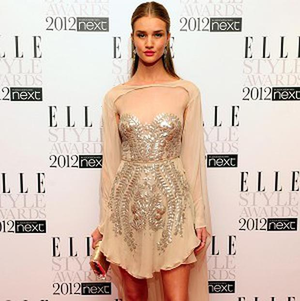 Rosie Huntington-Whiteley attends the 2012 Elle Style Awards at The Savoy Hotel in central London