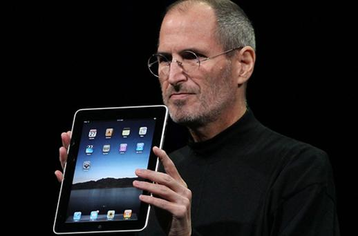 The late Steve Jobs unveiled the first iPad in January 2010. Photo: Getty Images