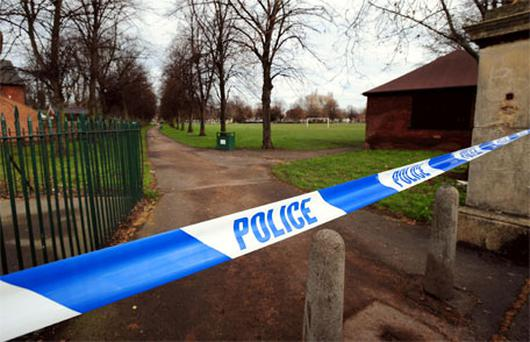 Elmfield Park, Doncaster where a murder investigation is under way following the death of a 13-year-old girl. Photo: PA
