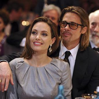 Brad Pitt was there to support partner Angelina Jolie as she picked up an award in Berlin