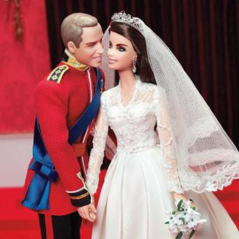 The Duke and Duchess of Cambridge have been immortalised as dolls by Mattel