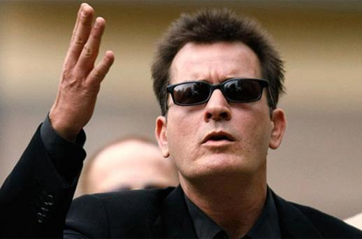 Charlie Sheen in Aspen. Photo: Reuters