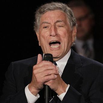 Tony Bennett was serenaded in San Francisco (AP Photo/Eric Risberg)