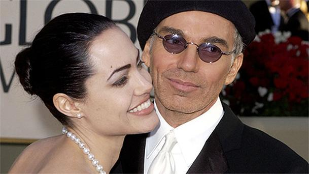 Billy Bob Thornton and Angelina Jolie at the Golden Globes in 2002
