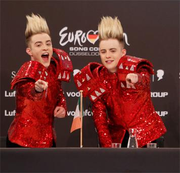 Jedward at last year's Eurovision
