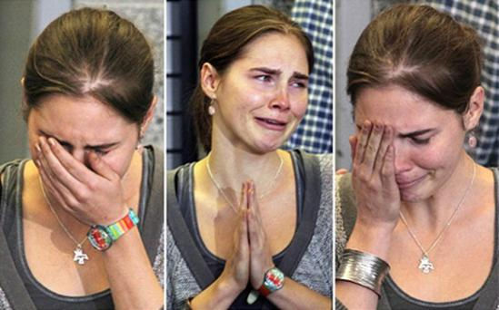 Amanda Knox, shown here shortly after her conviction for murder was thrown out, has signed a book deal