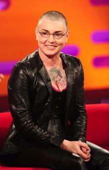 Sinead O'Connor chats to Graham Norton during the show. Photo: PA