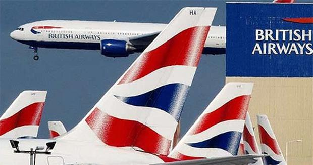 A bomb threat was allegedly scrawled on a lavatory door of a British Airways jet mid flight