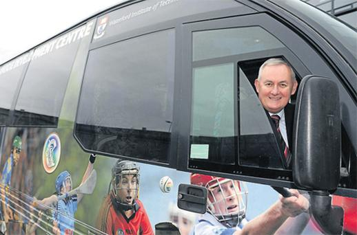 GAA president Christy Cooney at the launch of the National Hurling Development Plan yesterday