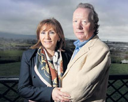 FIGHT OR FLIGHT: Martin McCaughey and his wife Kathleen in their home in Dundalk from which Martin gave chase. Photo: David Conachy
