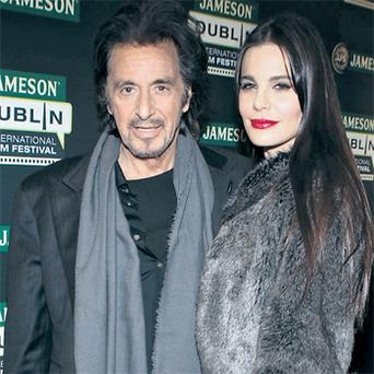 Al Pacino was in Dublin last night with his partner Lucila Sola for a screening of 'Wilde Salome' – a documentary about a stage version of Oscar Wilde's one-act tragedy – as part of the Jameson Dublin International Film Festival
