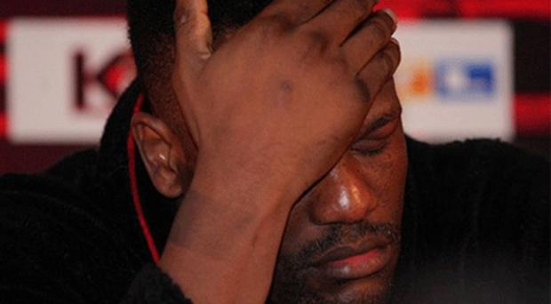 Ashamed: Dereck Chisora has apologised for his behaviour in Munich. Photo: Getty Images