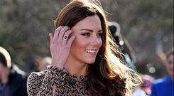 Kate Middleton steps out in an Orla Kiely dress as she leaves the Rose Hill Primary School in Oxford
