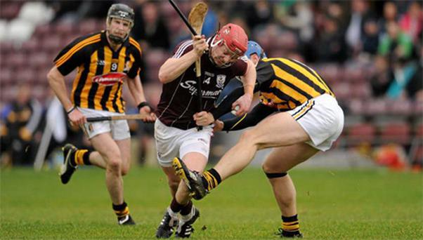 Joe Canning, centre, has been sidelined with a shoulder injury