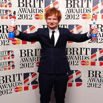 Ed Sheeran was a double winner at the Brits
