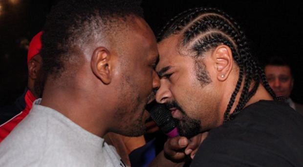 David Haye and Dereck Chisora. Photo: Reuters