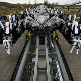 Former fighter pilots are to be used to test The Swarm after dummies were left with missing limbs (Jeff Spicer/Thorpe Park/PA)