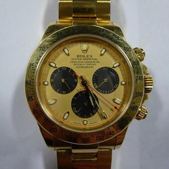 The Rolex watch worth 21,000 pounds had been stolen from a house near to where it was found (Essex Police/PA)