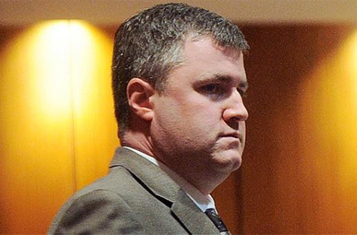 Gabe Watson stands during a break in his trial, for the murder of his wife Tina. Photo: AP