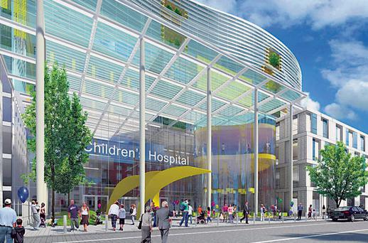 An artist's impression of the proposed national children's hospital on the Mater site in Dublin.