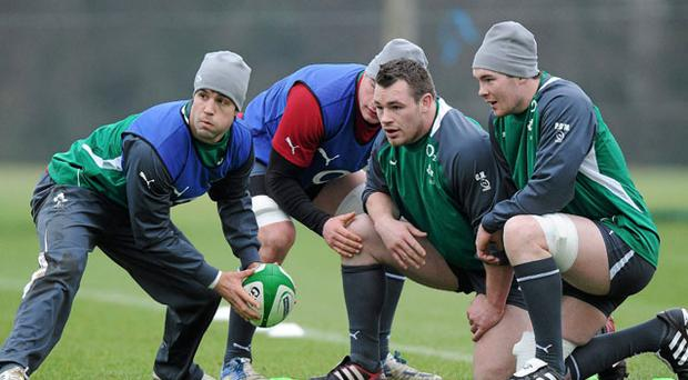 Conor Murray in action during training ahead of today's game against Italy